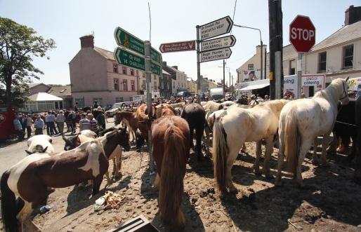 Thronged Streets at Cahirmee Fair
