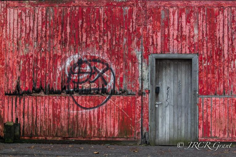 Dock Door on Red