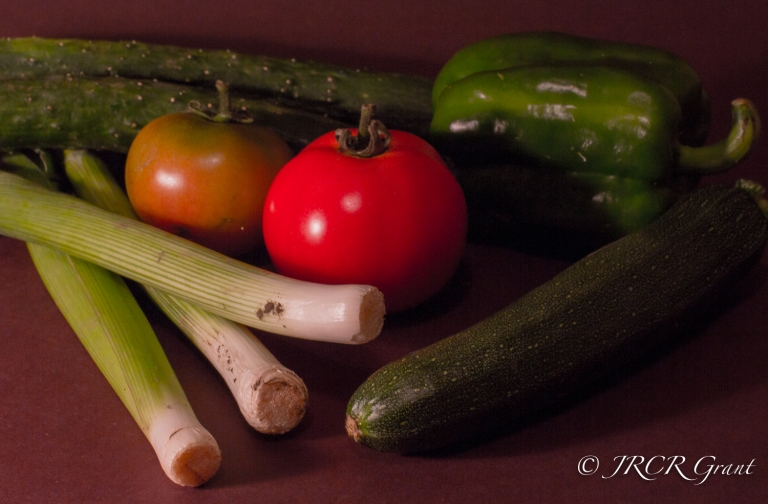 Image of home grown vegetables