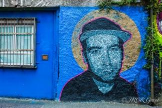 Full image of face mural