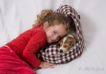 Sleeping Pup with Child