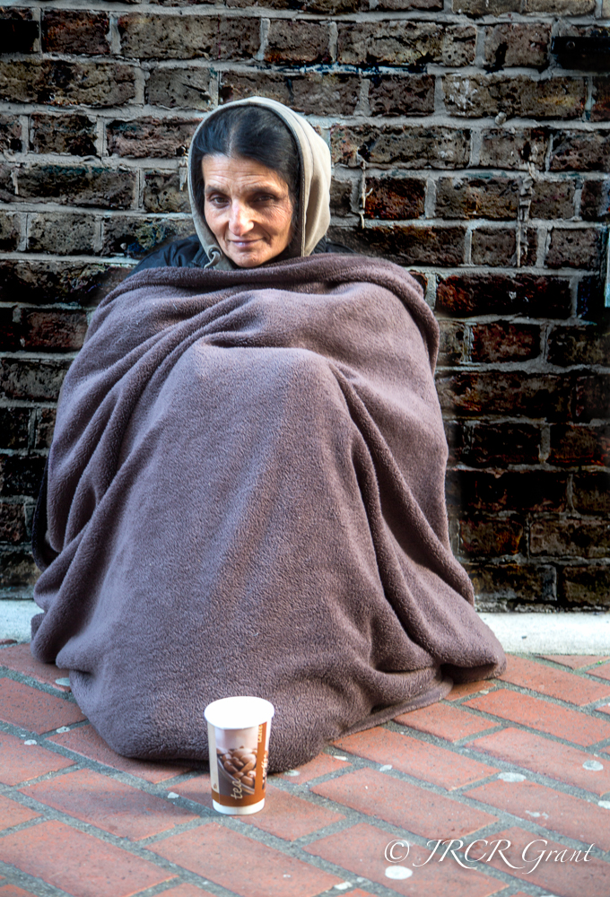 Lady begs on streets of Cork