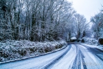 scenes of snow in County Cork