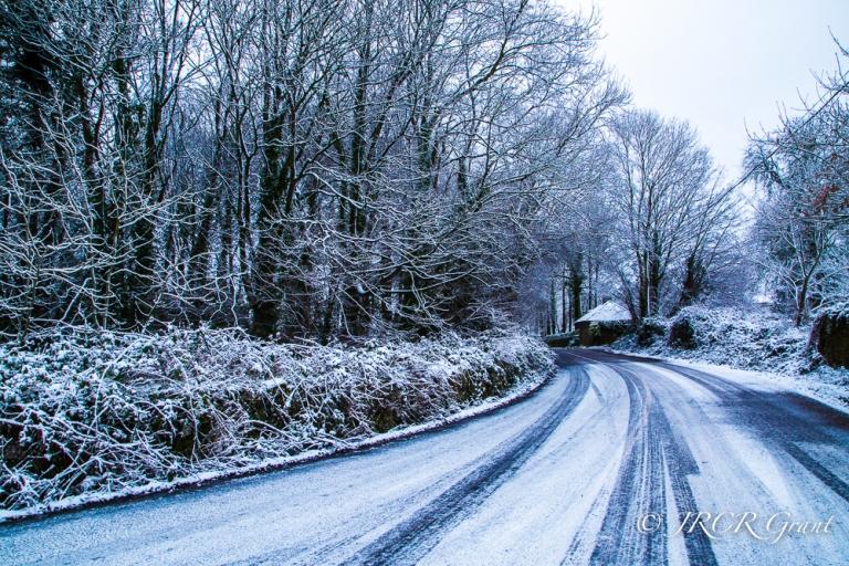 scenes of snow in County Cork