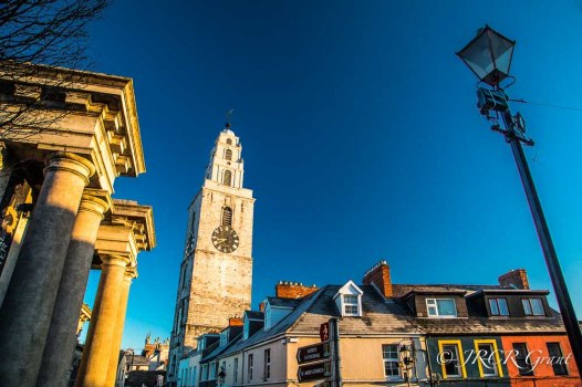 Shandon Tower, Cork bathed in morning light.