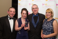 Marion, Jerry Buttimer TD, PJ Coogan (DJ at 96FM) and Grace with award