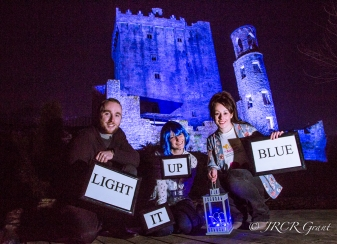 Blarney Castle gets a blue makeover for Autism Awareness