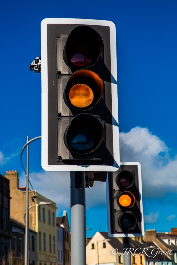 Traffic Lights change to amber