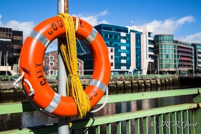 Life Buoy on the River Lee ion the centre of Cork