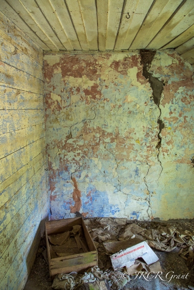 Inside of an abandoned house, the bedroom
