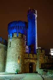 Blackrock Tower lights up blue for Autism 2015