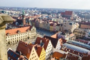 Bird's eye view of The Rynek, Wroclaw