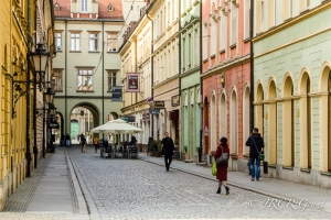 Cobbled street in the main square, Wroclaw