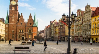 The cobbled square, Wroclaw, Poland