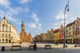 View of the main square in Wroclaw