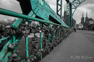 Tumski Bridge in Wroclaw