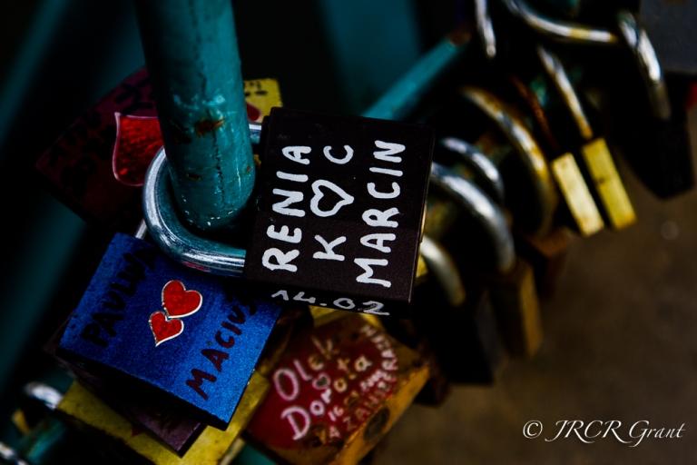 Renia & Marcin leave their mark on Tumski Bridge, Wroclaw, Poland