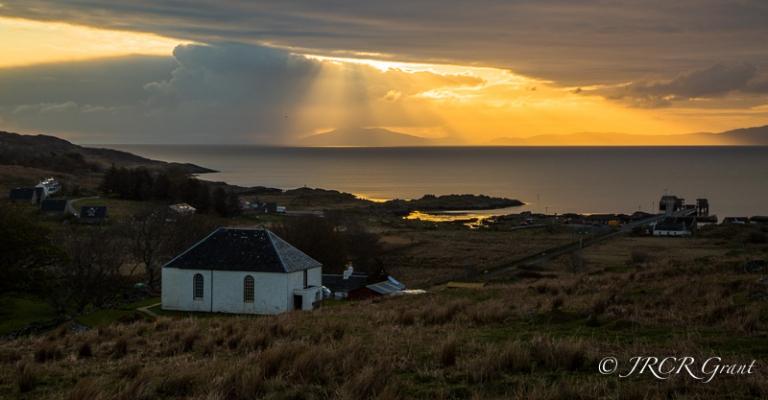 Sun rising over the Inner Hebrides, Scotland