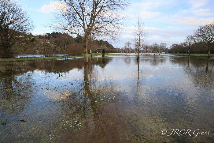 Flood water spreads across the Lee Fields in an unwelcome start to 2016 in Cork City