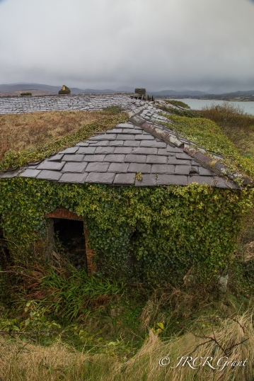 Slate roof on the Whiddy Island Garrison