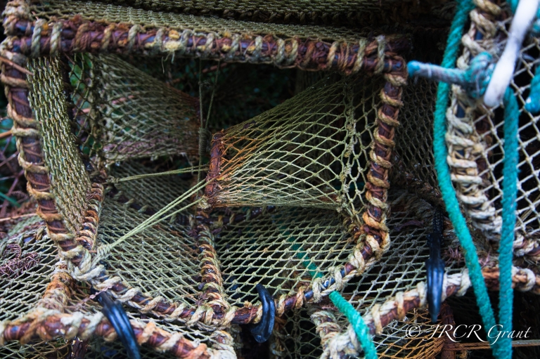 close up of an old lobster pot