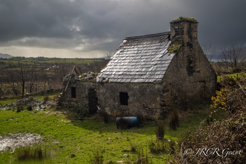 Old cottage on Whiddy Island falling into ruins