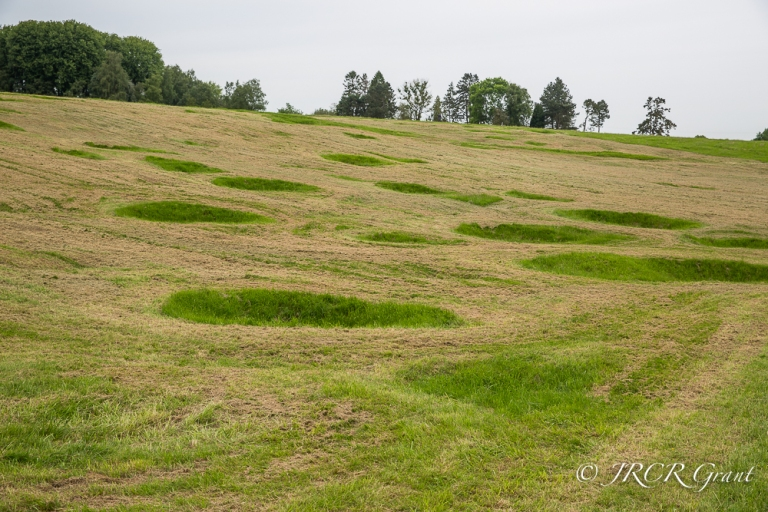 Battle-site of the Somme, crater scars clearly visible
