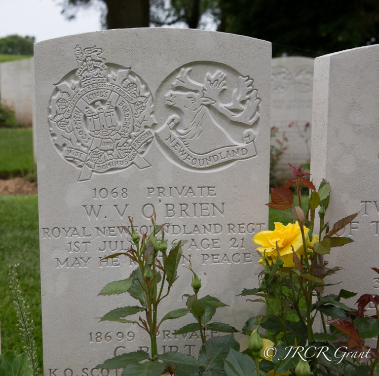 ANother headstone bears the date 1st July 1916