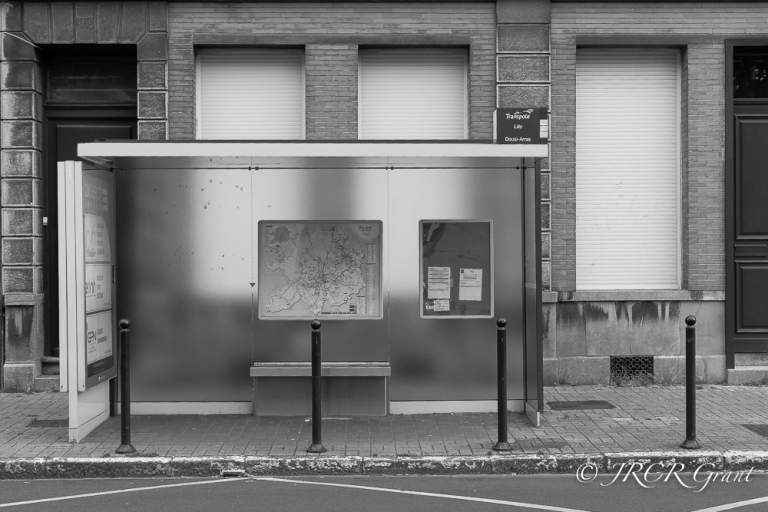 Bus stop true -BW