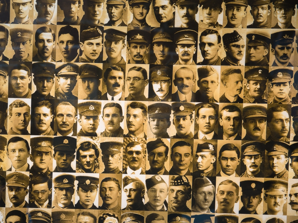 Images of soldiers who fought at the Battle of the Somme in Flanders