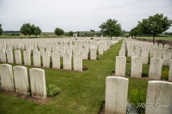 the graves of soldiers on the Somme at Ovillers la Boiselle