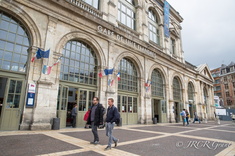 Wooden doors, arches and glass all go to make up the style of Lille's Gare de Flanders