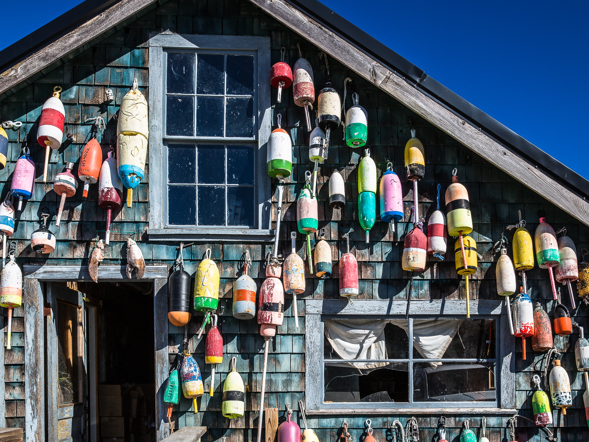 colourful floats of Maine