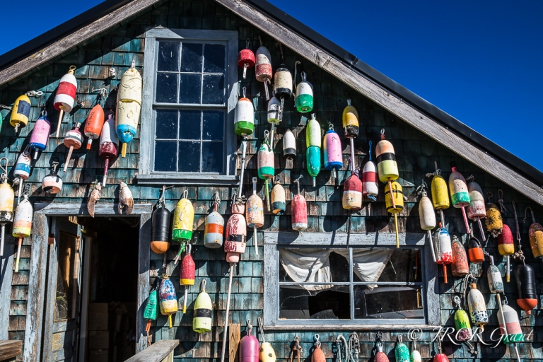 coloured floats brighten up a pier building