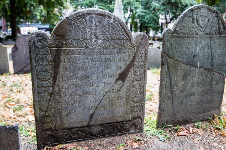 Grave stones in the Granary Burial Ground