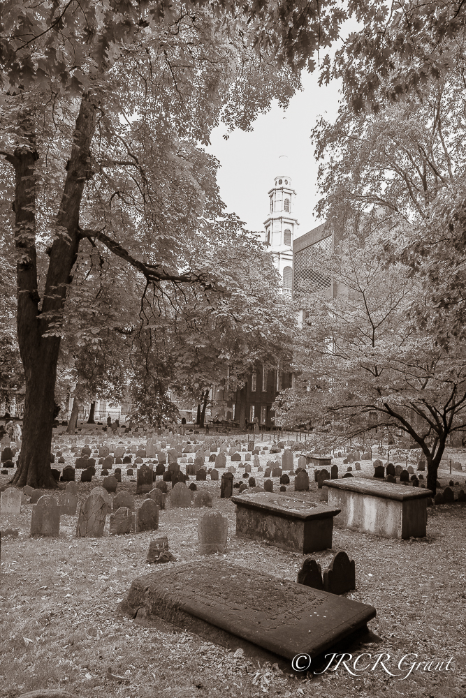 Granary Burial Ground in the Heart of Boston