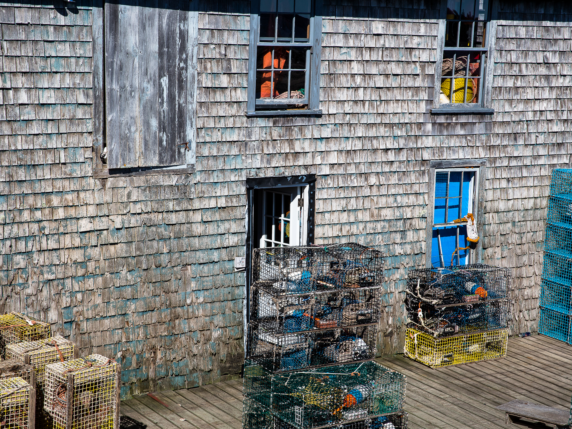 An old fishing storehouse on Mount Desert Island, Maine, USA