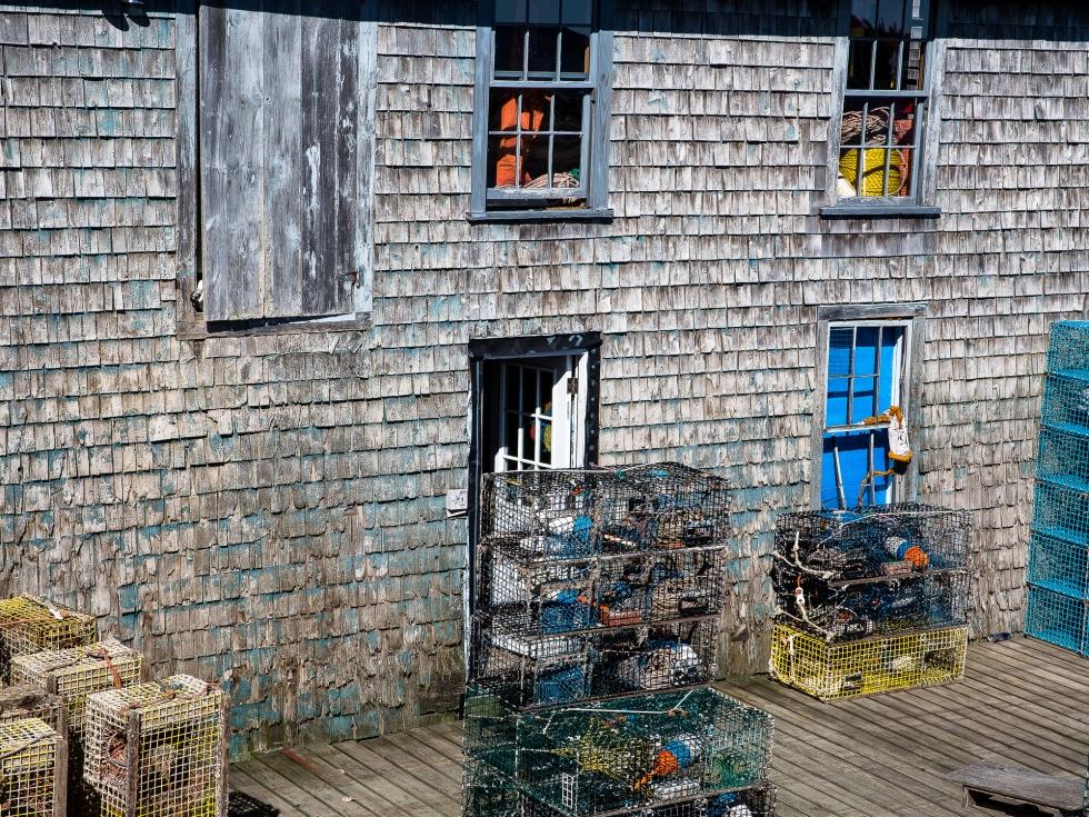 An old fishing storehouse on Mount Desert Island, Maine, USA