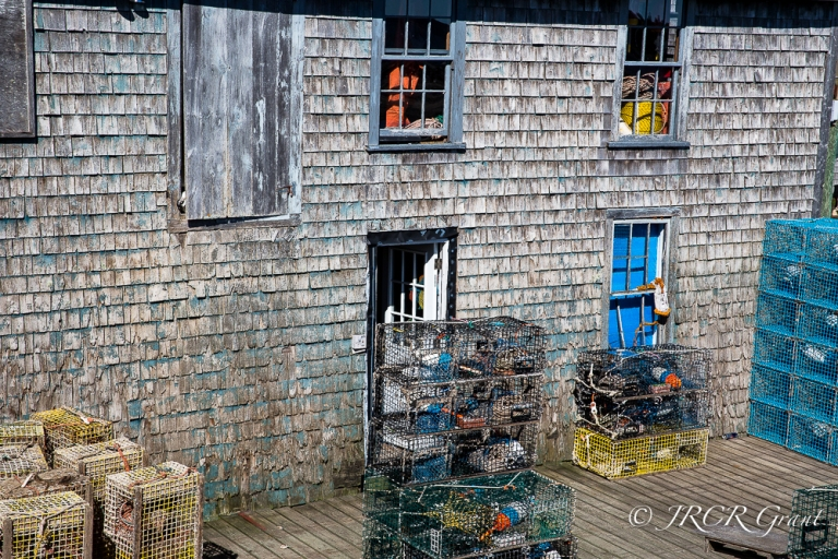 An old Fishing store at Bernard, Mopunt Desert Island, Maine, New England, America