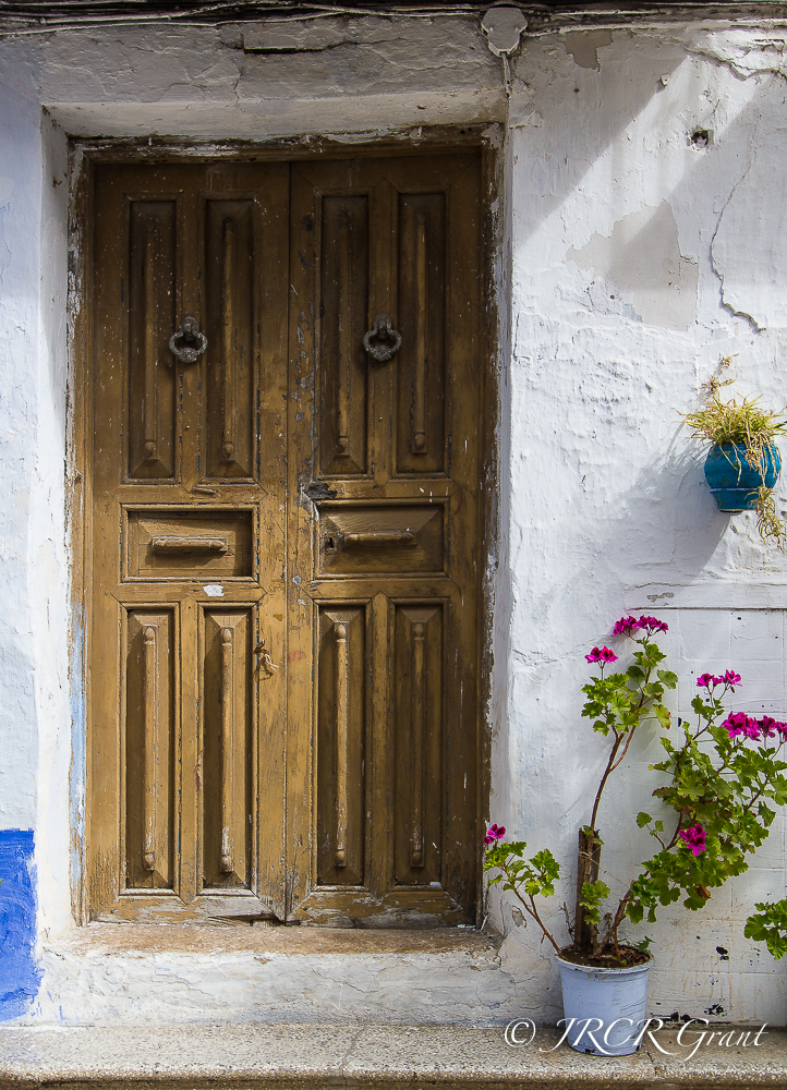 Old Door of a house in Lanjarón, Las Alpujarras, Spain
