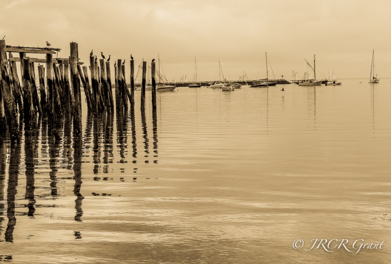 The harbour and old pier at Provincetown, Cape Cod, USA