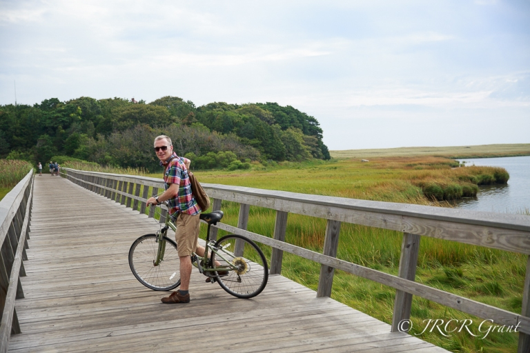 Bicycle on Marsh boardwalk in Cape Cod