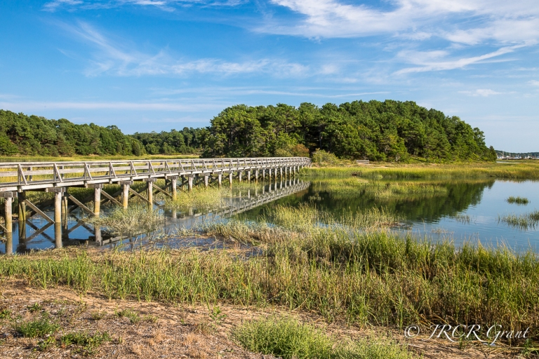 Pedestrian bridge at Wellfleet, Cape Cod