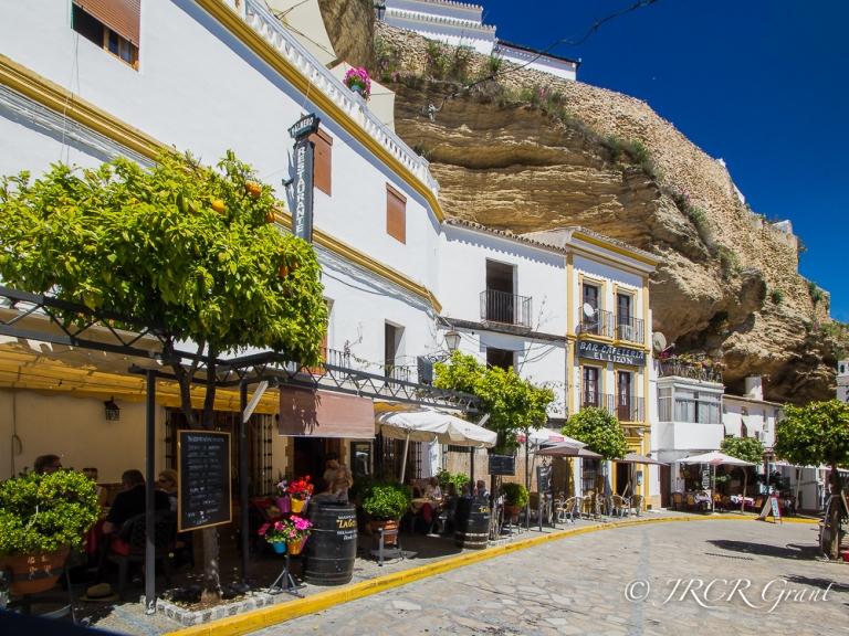 Colourful street in Setenil de las Bodegas
