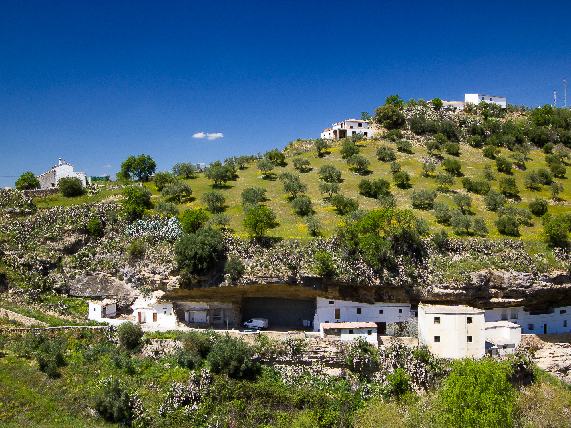 Houses, tucked into the rock and landscape at Setenil de las Bodegas