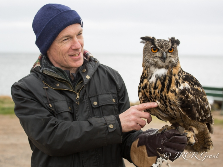 Man with Eagle Owl