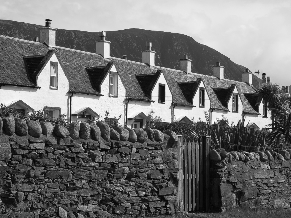 Fishermen's houses at Catacol, Isle of Arran