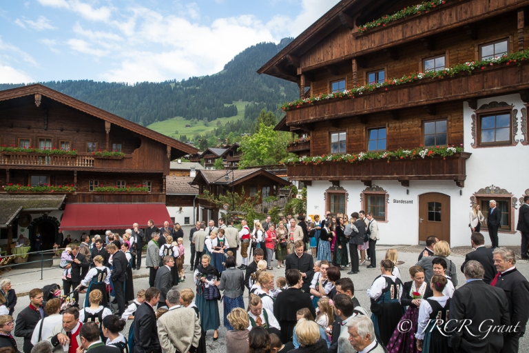 A village gathering in the Austrian village of Alpbach