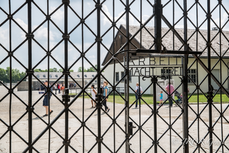 The gates of Dachau Concentration Camp