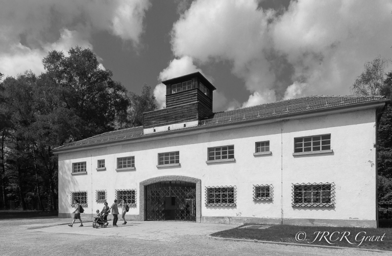 the watchtower over the main camp entrance - Dachau